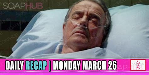 yr recap one night the young and the restless recaps the young and the restless yr recap victor is in a coma