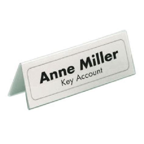 convention name card holder template durable table place name holders clear pack of 25 8050 19
