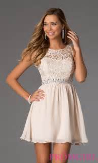 Short sleeveless lace party dress for prom