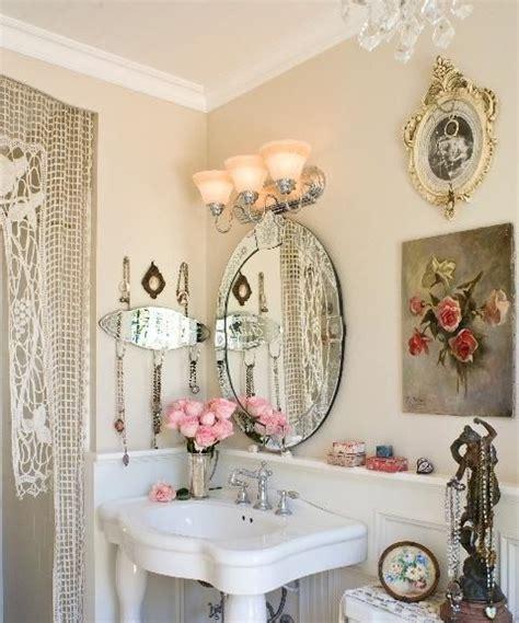 shabby chic bathroom mirror this shabby chic bathroom mini shabby chic