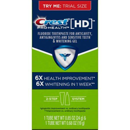 crest pro health hd daily  step toothpaste system