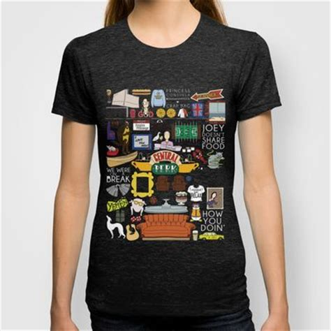 Friends T Shirts Collage Friends Shirts Friends Tv Show And Fit