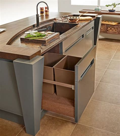 kitchen pull  trash bins  functional  aesthetical