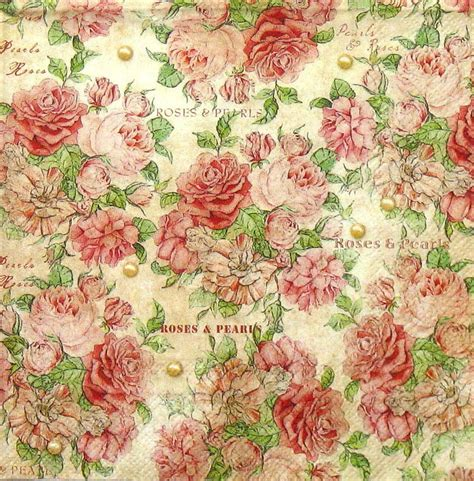 Vintage Decoupage Paper Uk - 4 x single luxury paper napkins for decoupage and craft