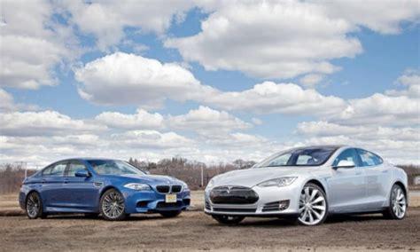 Tesla Or Bmw Tesla Model S Vs Bmw I3 And Bmw M5