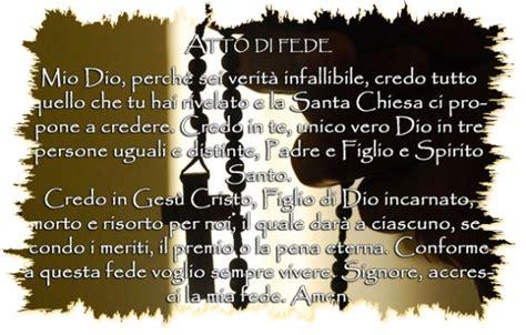 atto di fede testo preghiera atto di fede in italiano leggoerifletto