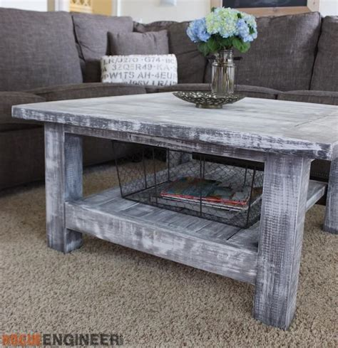 coffee table plans free square coffee table w planked top free diy plans