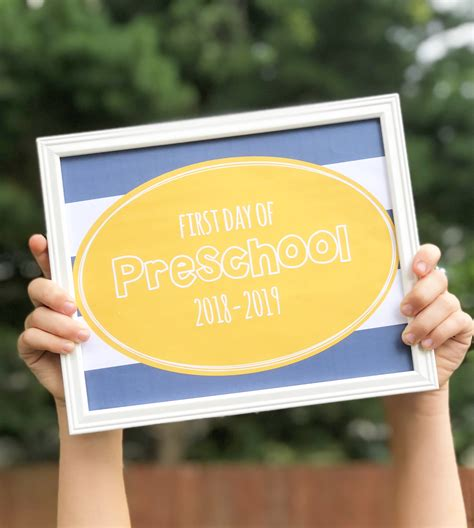 Free Printable Day Of School Signs 2018 2019 free printable day of school signs 2018 2019
