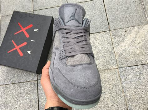Kaws X Air 4 Cool Grey by Cheap Kaws X Air 4 Cool Grey White 2017 Release Hoop