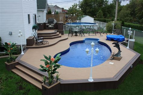 backyard pool deck ideas contemporary pool