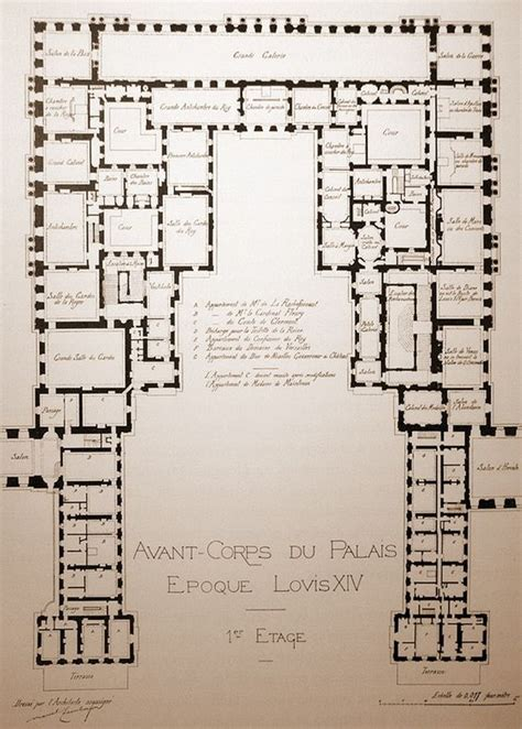 floor plan versailles louis xiv the o jays and chateaus on pinterest