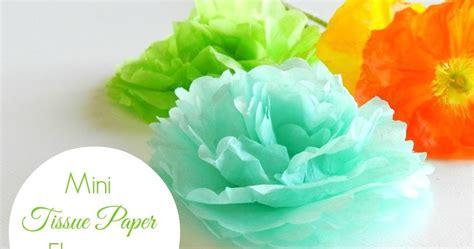 Minilove Tissue grow creative mini tissue paper flowers tutorial