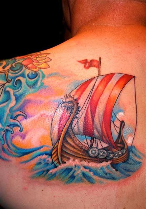 viking tattoo process mallory swinchock viking ship tattoo mermaids and