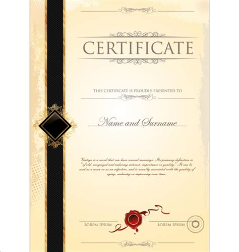 free certificate design templates cover of certificate design template vector free vector in