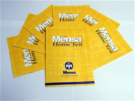 mensa home test mensa