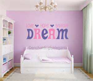 believe dream vinyl decal wall sticker words lettering teen room decor decals for teens girls bedroom dance though