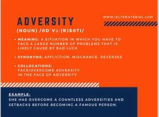 Adversity - Word of the Day for IELTS Speaking & Writing Ielts Speaking Part 2 Questions