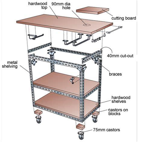Diy Kitchen Island Cart home dzine kitchen diy mobile kitchen island or workstation