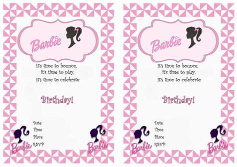 free printable birthday invitations barbie barbie free printable birthday party invitations