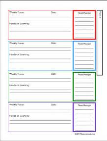 free monthly planning sheets for homeschoolers and educators