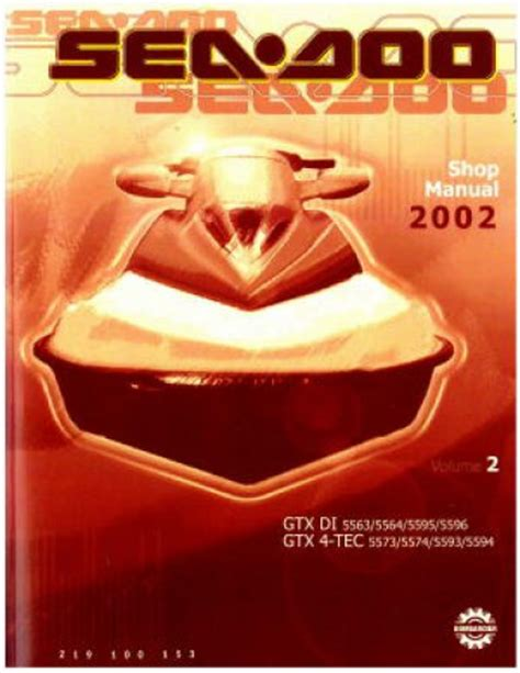 2002 Sea Doo Gtx Di Gtx 4 Tec Shop Manual Vol 2