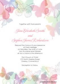 Butterfly Invitation Template by Butterflies Wedding Invitation Set Wedding