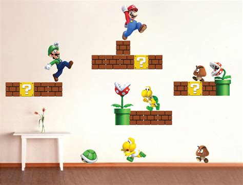 mario bros stickers wall mario wall decals 28 images show your