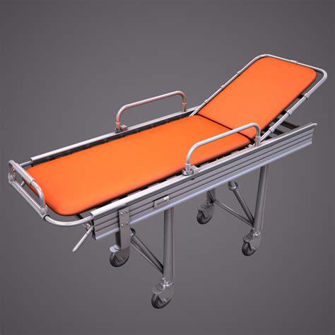 stretcher bed 3d model hospital stretcher bed