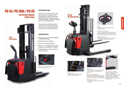 Jual Forklift Electric Noblift Fe4p20 jual electric stacker auto noblift harga murah