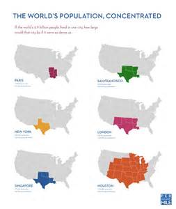 map of us cities by size let s concentrate the world population