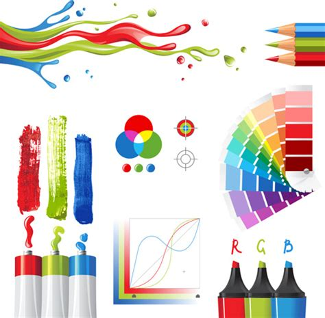 design foto vector bright paints colors design vector free vector in