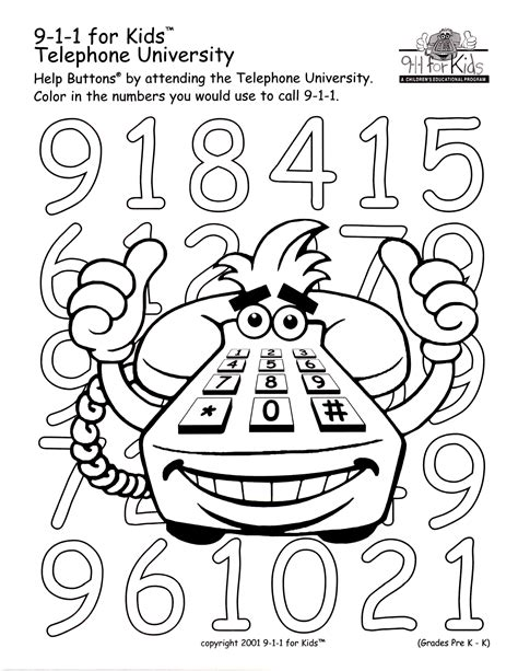 911 Emergency Coloring Pages 911 Emergency Coloring Pages