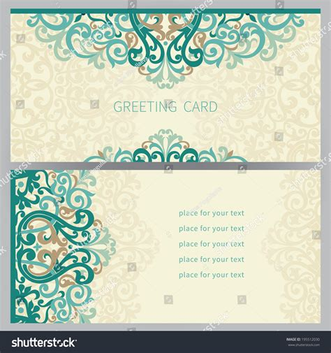 colorful wedding invitation templates vintage ornate cards east style colorful stock vector