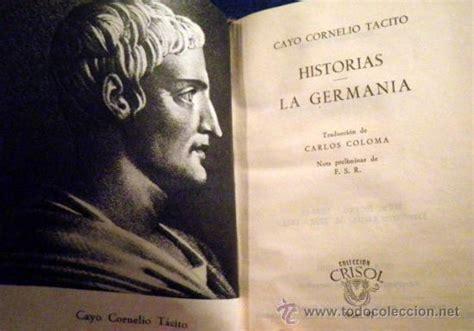 libro obras de tcito biblioteca germania libros estrenos y mucho m 193 s
