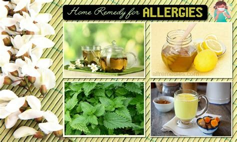 20 home remedies for allergies in adults children