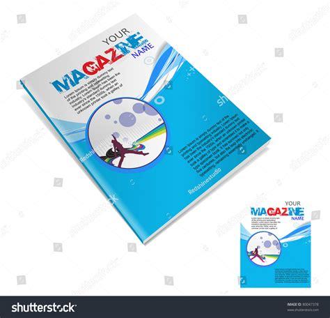 magazine layout design in illustrator magazine layout design template vector illustration stock