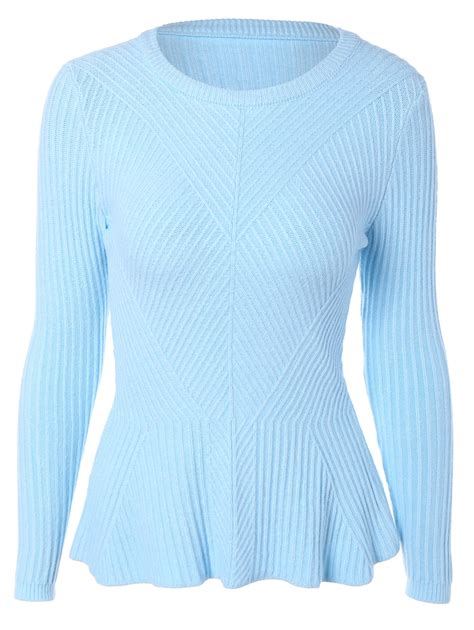 cheap sweaters that light up sweaters cardigans light blue sleeve flounce slim