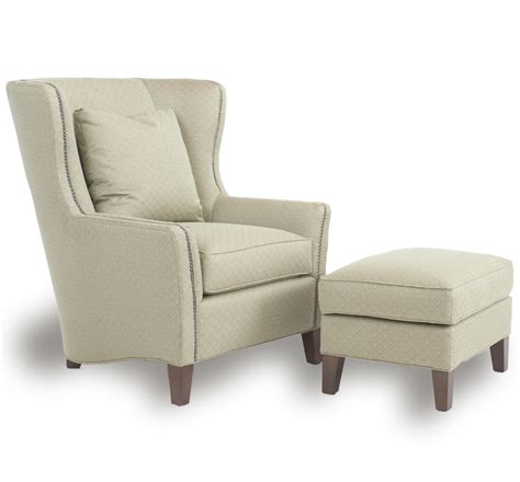 Side Chair With Ottoman Smith Brothers Accent Chairs And Ottomans Sb 825 40 Ottoman With Tapered Wood Legs Dunk