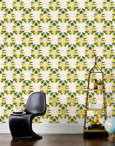 Pineapple Yellow pineapple yellow wallpaper hygge west