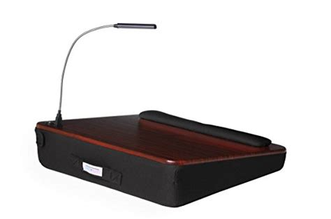 memory foam lap desk sofia sam memory foam lap desk with usb light 5035