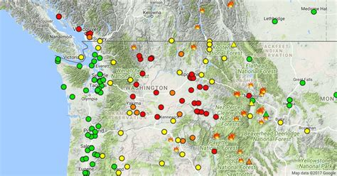 map of oregon fires september 2017 wildfire smoke safety and health informationilovekent