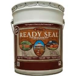 home depot deck sealer ready seal 5 gal cedar exterior wood stain and