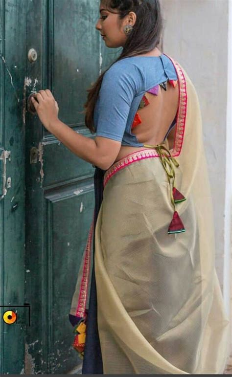 trendy silk saree blouse designs catalogue  simple