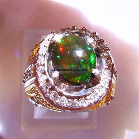 Batu Black Opal Banten batu mulia black opal kalimaya non heat cincinpermata