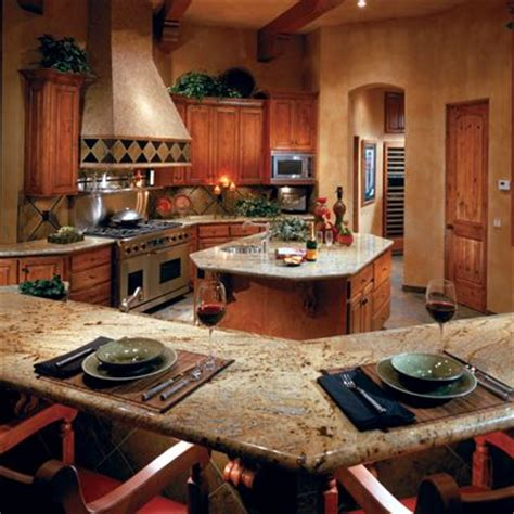 Entertaining Kitchen Designs For Entertaining Golden Wave Granite Countertop In This Kitchen Via Arizonatile