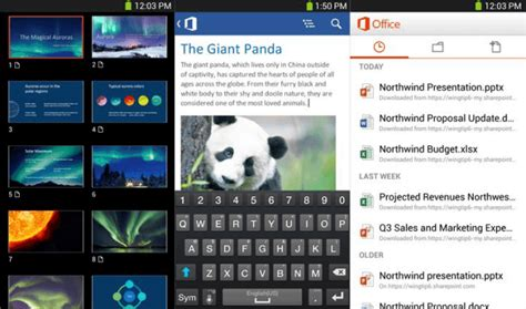 office 365 android office 365 for android available to subscribers