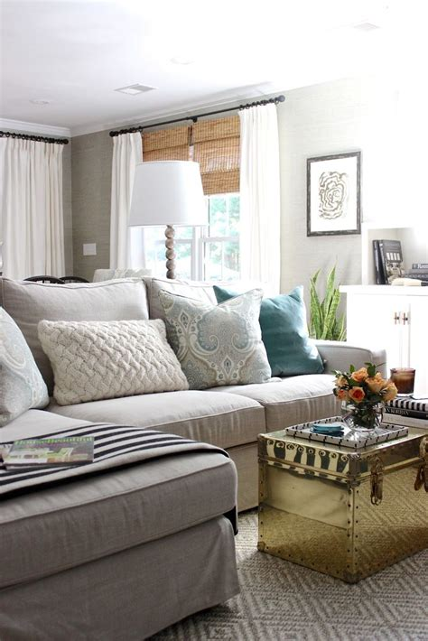 living room l shades design indulgence one room challenge reveal living rooms pinterest grey sectional window