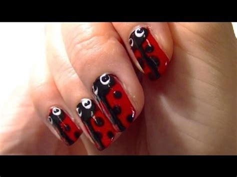 cute easy lady bug nail art youtube yes it s another cute ladybug nail polish art youtube