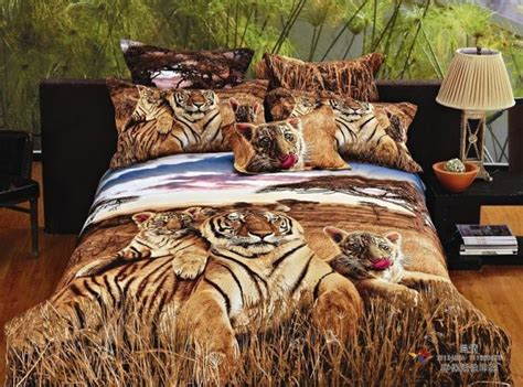 siberian tiger print bedding comforter set queen size