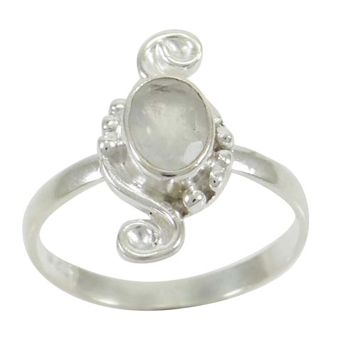 moonstone 925 sterling silver ring band us size 8 gorgeous